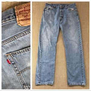 LEVIS 501 BUTTON FLY JEANS Distressed 36 X 33